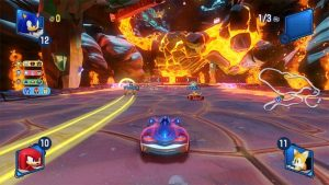 Team Sonic Racing burn