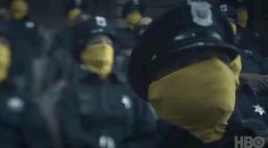 HBO Watchmen zlute masky