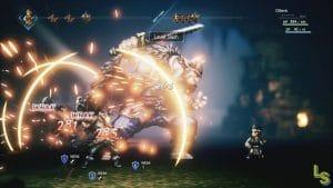 Octopath Traveler battle system