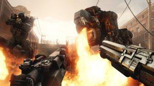 Wolfenstein: Cyberpilot fire