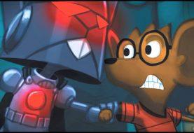 Robot Rickyho Ricotty: čeká vás bitva obrovských robotů, invaze nepřátel z vesmíru a všemu kraluje kreslený myší kluk s brýlemi