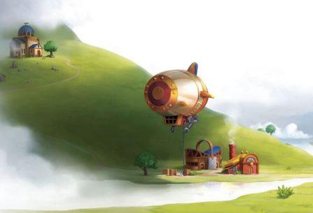 Charterstone: na trůn usedl Nehynoucí král, ve vzduchu létají vzducholodě a vy máte omezený čas na postavení a rozvoj jedné bezejmenné osady
